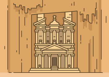 Ancient Petra Vector Illustration - Free vector #426093