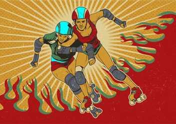 Roller Derby Players - Free vector #426353