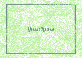Seamless Pattern Background Of Green Leaves - Kostenloses vector #426463