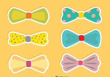 Nice Hair Ribbon Vectors - Free vector #426583