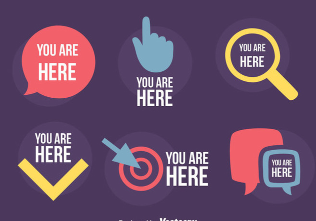 You Are Here Sign Vector - vector gratuit #426603
