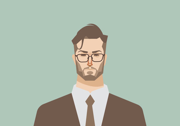 Headshot of Young Businessman Vector - vector gratuit #426723