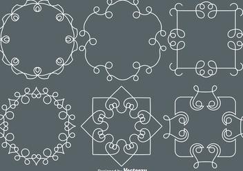 Vector Line Style Monograms - бесплатный vector #427353