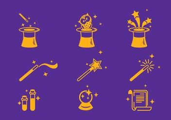 Magician Icon Set Vector - бесплатный vector #427513