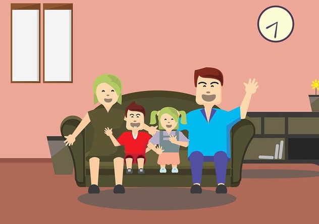 Familia Time Vector Background - vector #427643 gratis