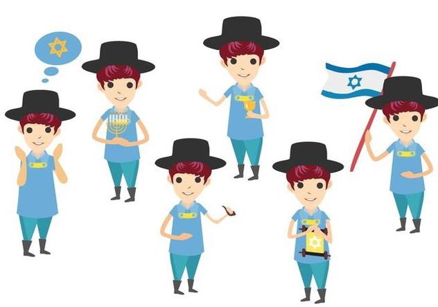 Free Jewish Character Vectors - vector gratuit #427653