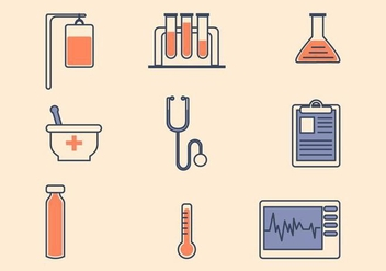 Flat Medical Icon - Kostenloses vector #427693