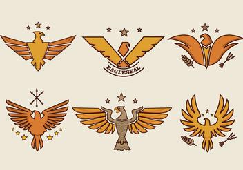 Eagle Seal Smbol Logo Vector - Kostenloses vector #427803