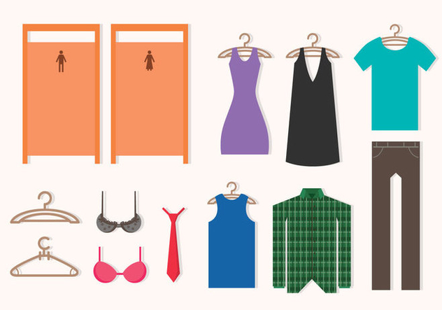 Dressing Room Icons - vector #427813 gratis