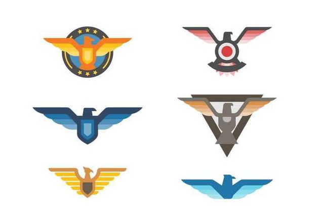 Free Elegant Eagle Badge Vectors - vector gratuit #427823