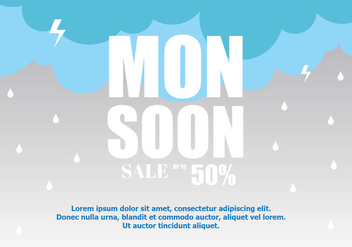Monsoon Sale Background Vector - Free vector #427993