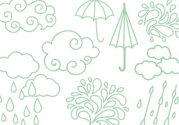 Free Rainy Season Vectors - vector #428243 gratis
