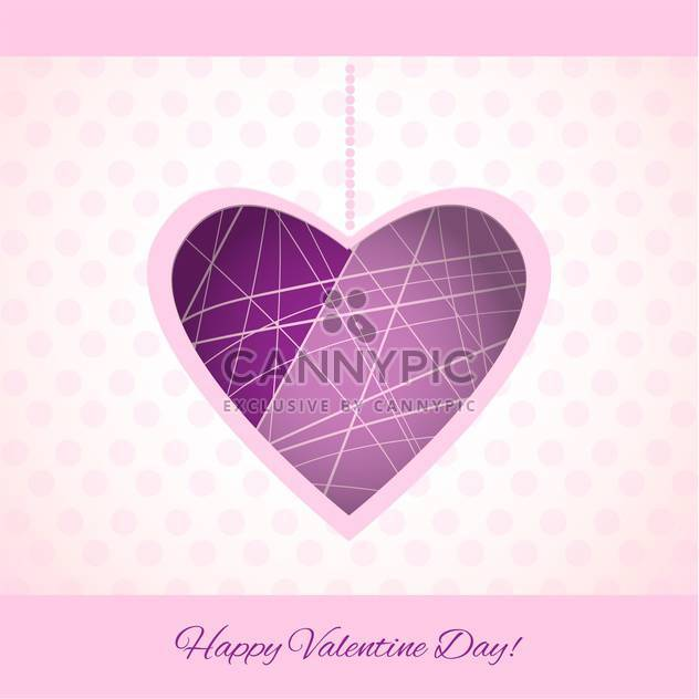 Vector colorful background for Valentine's Day with purple heart - Free vector #125823