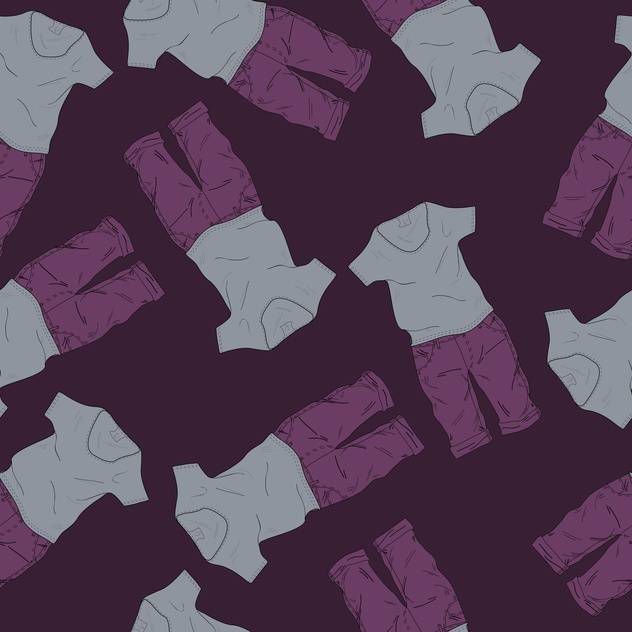 Vector background with fashionable shorts and t-shirts - vector gratuit #126033
