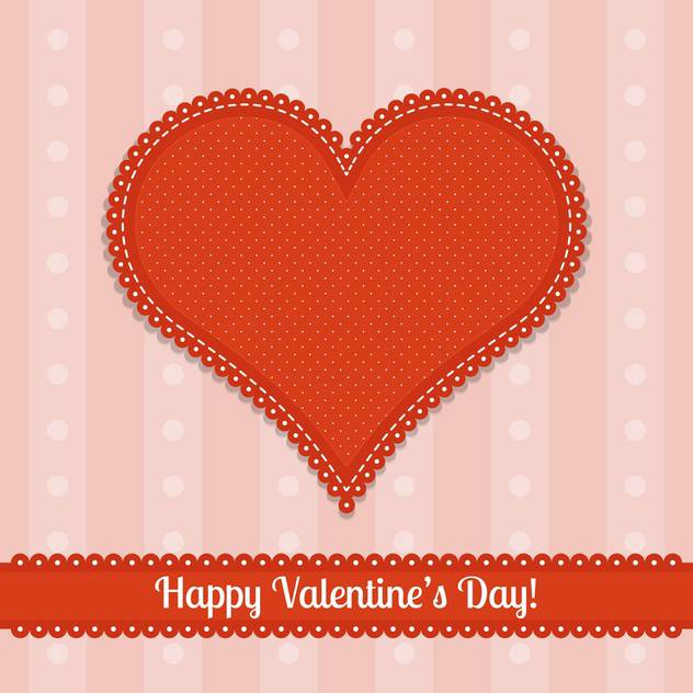 valentine card with big red heart and text place - vector #126043 gratis
