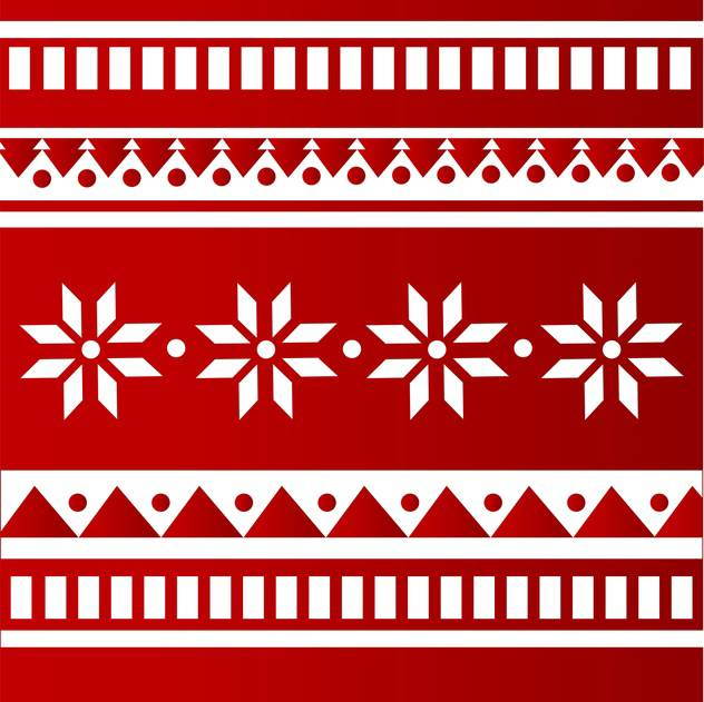 Vector red color folk background with white ornament - vector #126153 gratis