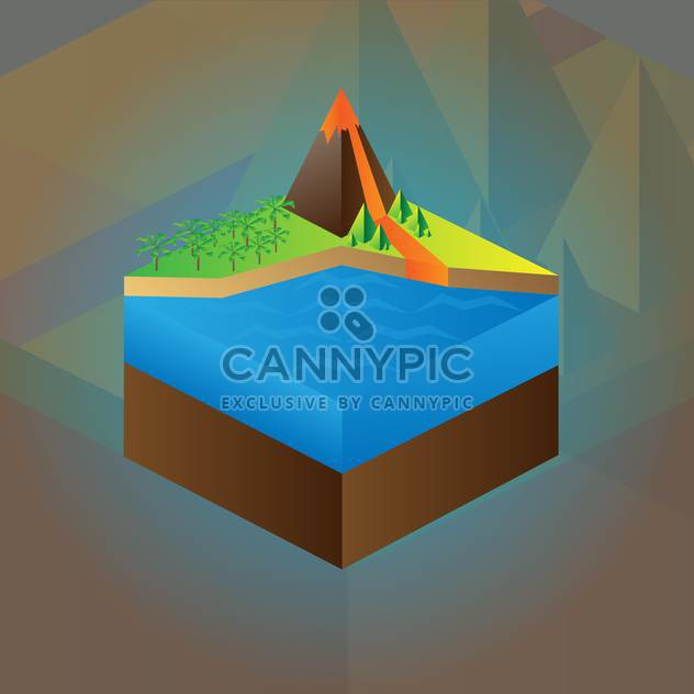 Vector colorful education scheme of volcano maquette - Free vector #126193