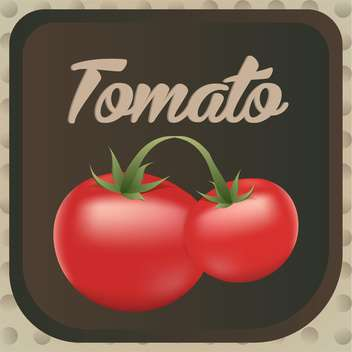 Vector illustration of red ripe tomatos label design - Free vector #126203