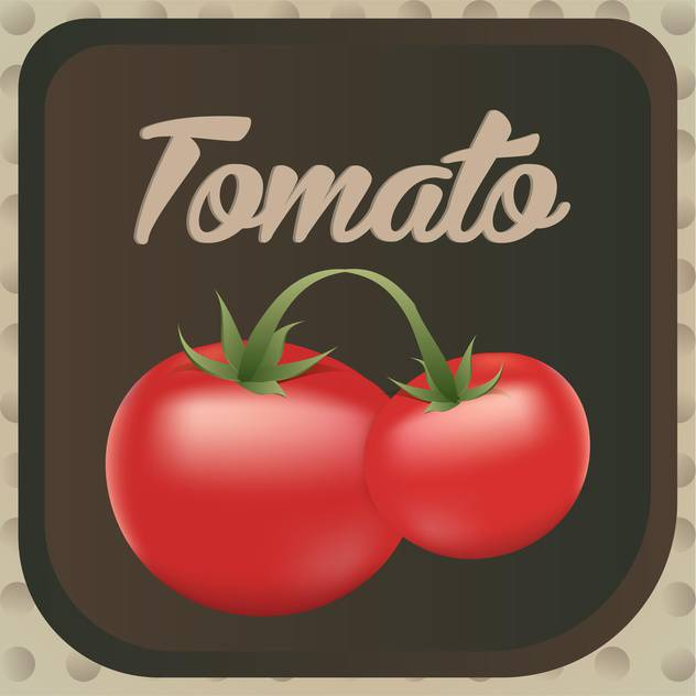 Vector illustration of red ripe tomatos label design - vector gratuit #126203