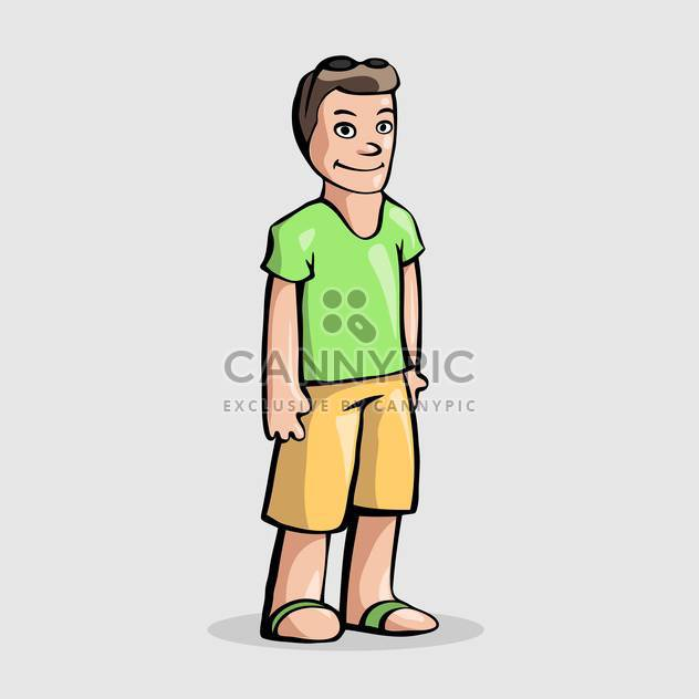 Vector illustration of cartoon man character standing on white background - Free vector #126213
