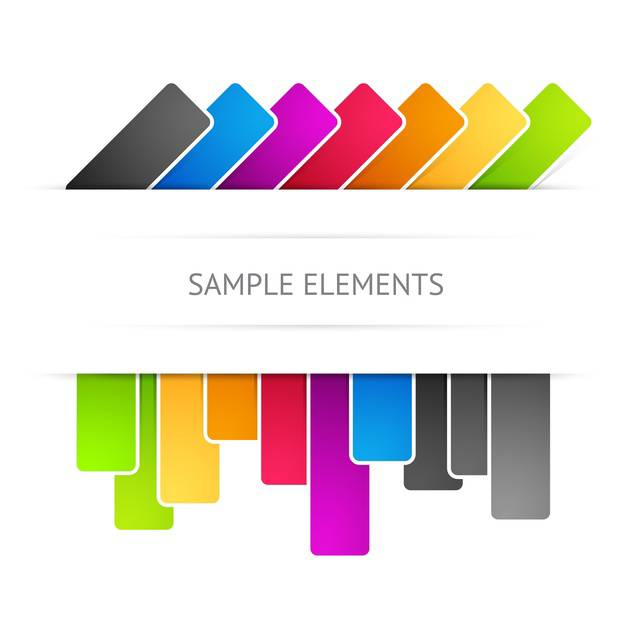 Vector colored web elements on white background - vector gratuit #126373