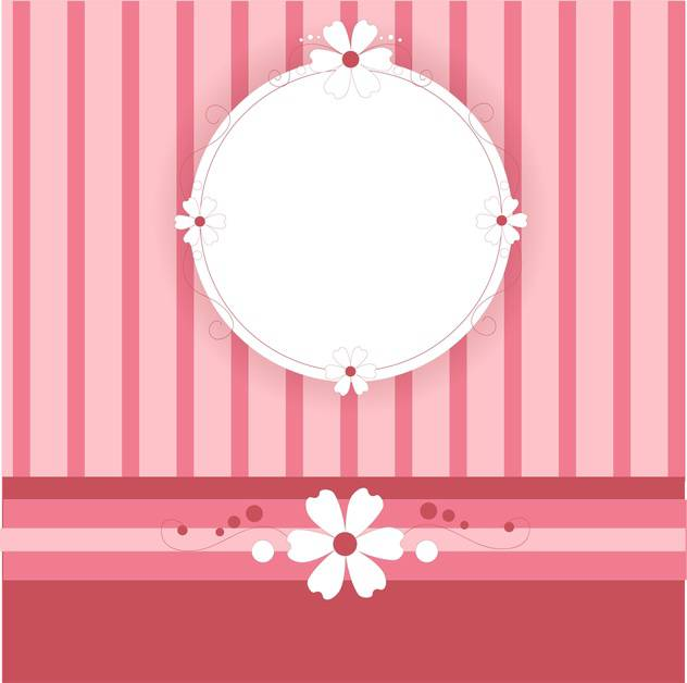 Vector lovely pink background with text place and stripes - vector gratuit #126393