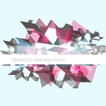 Vector illustration of abstract geometric mosaic background with text place - Free vector #126423