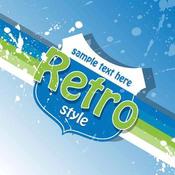 Vector retro background with text place and paint signs - vector gratuit #126473