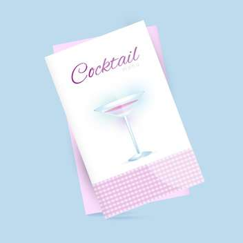 Vector illustration of restaurant cocktail menu on blue background - vector gratuit #126523