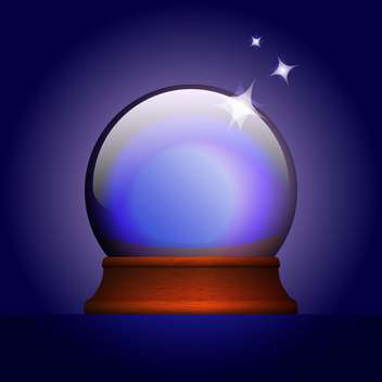 Vector illustration of magic ball on blue background - Free vector #126553