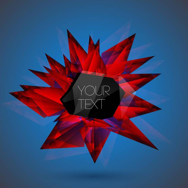 Vector abstract background red art crystal on blue background - vector gratuit #126563