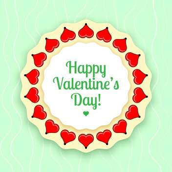 vector illustration of greeting card for Valentine's day - vector gratuit #126683