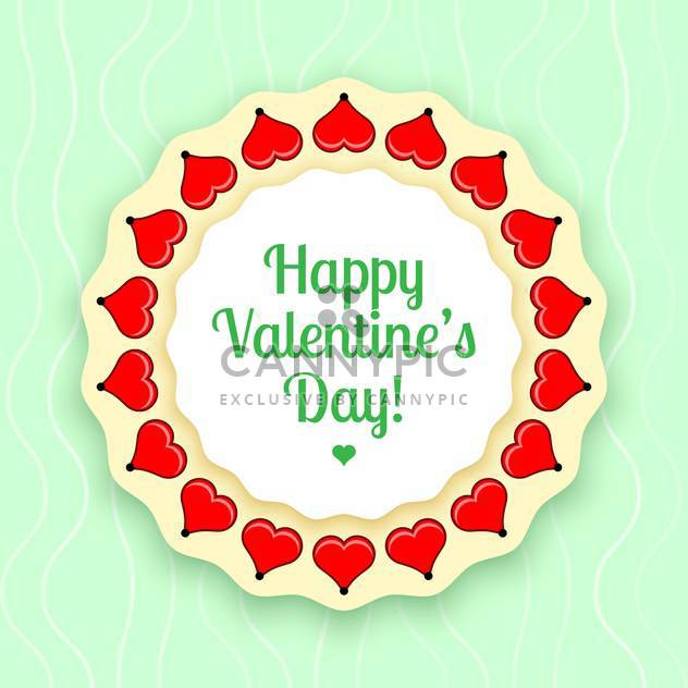 vector illustration of greeting card for Valentine's day - Free vector #126683