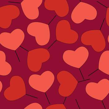 Valentine's day greeting card background with hearts - vector gratuit #126773