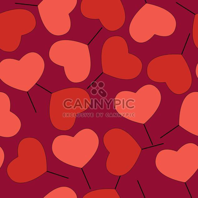 Valentine's day greeting card background with hearts - Free vector #126773