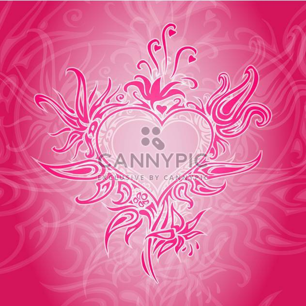Vector red background with abstract heart. - Free vector #126793