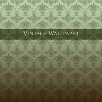 Vector colorful vintage wallpaper with floral pattern - бесплатный vector #126823