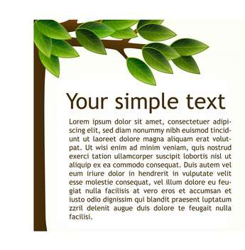 Vector background with green tree and text place - vector gratuit #126863
