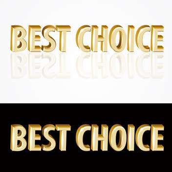 Vector gold best choice signs on black and white background - vector gratuit #126923