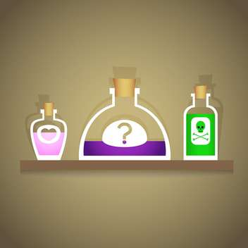 Vector illustration of bottles with various liquids - vector #126953 gratis