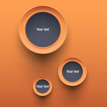 Vector orange round shaped buttons with text space - vector #127173 gratis