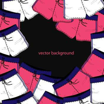 Vector background with different colorful shorts - vector gratuit #127183
