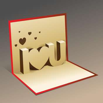 Vector Valentine card on grey background - vector gratuit #127203