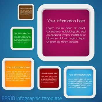 vector set of web badges with text place - vector #127233 gratis
