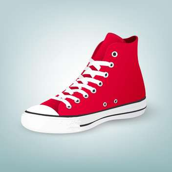 Vector illustration of red gumshoes on blue background - vector gratuit #127283