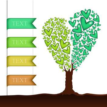 Vector background with heart shaped tree - vector gratuit #127303