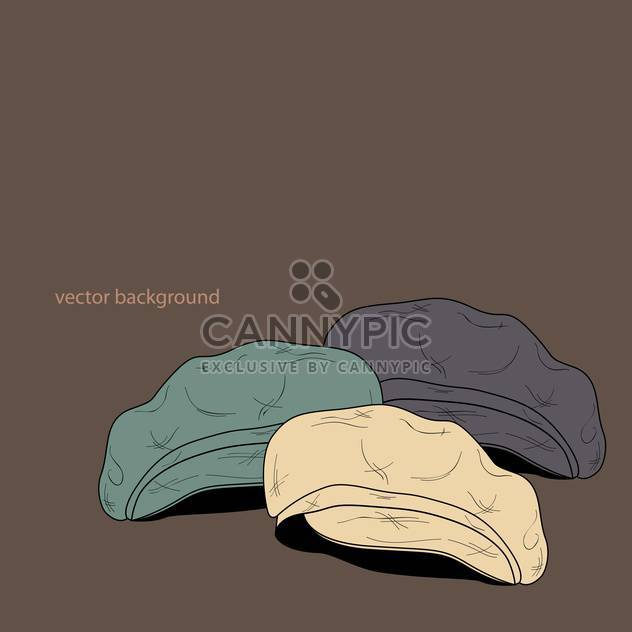 Vector background with fashion male hats - Free vector #127363