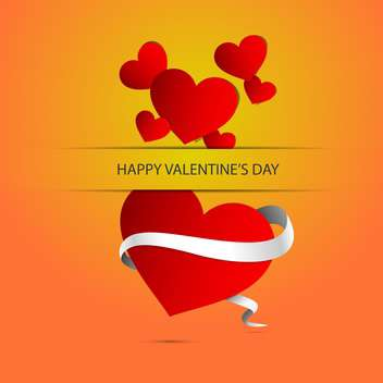 Vector background with heart and text place for Valentine's day - Free vector #127373