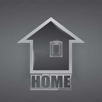 Vector home icon on grey background - vector #127433 gratis