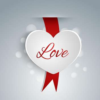 Heart shaped label for Valentine's day - vector gratuit #127463